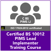 Certified BS 10012 PIMS Lead Implementer Training Course