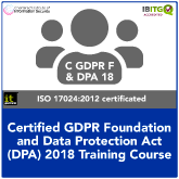 Certified GDPR Foundation and Data Protection Act 2018 Combination Training Course