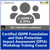 Certified GDPR Foundation and Data Protection Impact Assessment (DPIA) Workshop Combination Training Course