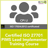 Certified ISO 27701 PIMS Lead Implementer Live Online Training Course