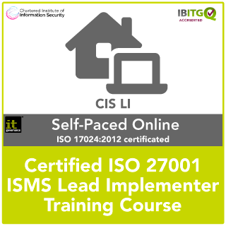 ISO 27001 Certified ISMS Lead Implementer distance learning training course