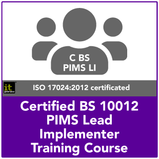 BS 10012 Certified PIMS Lead Implementer
