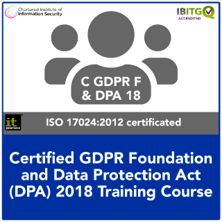 GDPR Foundation and DPA Act 2018 Training Course